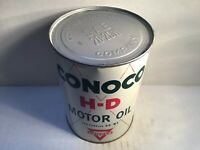 Vintage Conoco HD Oil Can Lube NOS Full Metal gas rare tin handy Shell Unopened