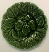 Sarreguemines France Majolica Strawberry Plate