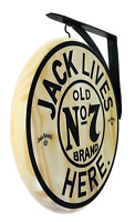 Jack Daniels Sign - 2 Sided Wooden Pub Sign - 12 inch Diameter