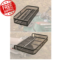 Universal ATV Front & Rear Drop Cargo Basket Rack Storage Carrier Hauler 2 Piece