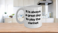 Clarinet Mug - White Coffee Cup - Funny Gift for Musician, Clarinetist Orchestra