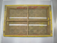 Yellow Coca Cola Wooden Delivery Crate Wy Mont 1959 Chattanooga Cases
