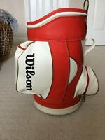 Vintage WILSON Red and White Golf Den Golf Caddy Bag - Great Condition