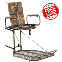 Hang-On Tree Stand Large Foot Platform 300 lbs. Weight Capacity Durable Design