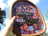 Scarce Vintage 1970s Rare Crown Royal Whiskey Mirror-Sign Excellent Condition