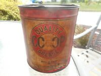 RARE Vintage CO-OP Farmer COOP TIN GREASE NO 3 CUP GAS OIL Advertising Can