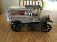 Old COCA COLA DELIVERY TRUCK CAST IRON VINTAGE TOY EXTRA WHEEL ~ HEAVY!!