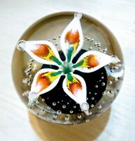 Beautiful Vintage Art Glass Paperweight, Hand Blown, Signed, One Owner FREE SHIP