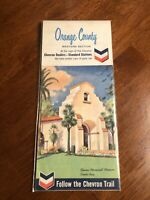 1965 Orange County Western Section Map Chevron Standard Oil Bowers Museum A2