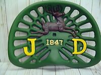 JOHN DEERE REPRODUCTION 1847  CAST IRON TRACTOR SEAT, COLLECTIBLE, farm, ranch