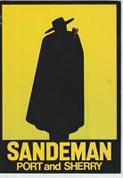 PORTUGAL SANDEMAN PORT AND SHERRY POSRCARD COVER