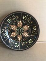 Breininger Redware Decorated Pottery Plate 1999 G. Zieber & W Muckey Signed