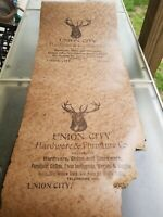 General store advertising poster Union City Tennessee coffins hardware implement