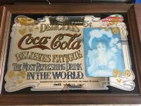 Big Coke Cola Mirror 36 Inches Long By 24 Tall Soda