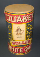 1930's Quaker Rolled White Oats Cereal 3 lb Box Container Clean Condition