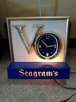 Vintage SEAGRAM'S VO Clock w/Light 10 X 10