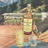 Seagrams VO Canadian Whisky Magazine Print Ad Vintage 1955 Original Liquor Drink