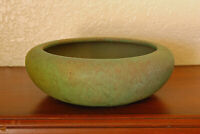 Magnificent Antique Roseville Pottery Early Carnelian Cabinet Bowl Matte Green