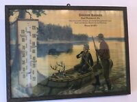 East Weissport PA Graver Garage 1930s Advertising Thermometer Hunting Fishing