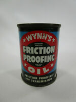 Vintage wynns friction proofing tin oil can FULL advertising gas 4oz
