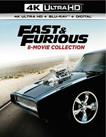 Fast amp; Furious 8 movie Collection 4K UHD Blu ray Paul Walker NEW $62.99