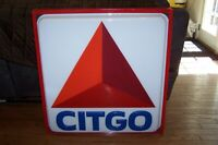 Vintage Citgo Gas Station Dealer Light Up Sign in Beautiful Working Condition !!