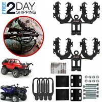 Gun Mount ATV Rack Grip Rifle Holder UTV Double Bows Shotgun Hunting Utility New