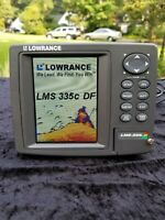 Lowrance LMS-335C DF Fishfinder / GPS w Screen Sun Cover