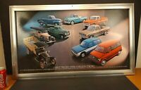 Vtg Chevy Chevrolet Trucks Truck Dealer Showroom Poster & Aluminum Frame 18x32