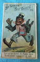 ADVERTISING VICTORIAN 1880'S TRADE CARD see name on card....BLACK AMERICANA