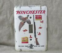 Winchester Super Speed Shells Metal Light Switch Cover New Old Tin Sign Look