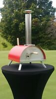WPPO Le Peppe Wood / Charcoal Fired Portable Tabletop Pizza Oven. Red