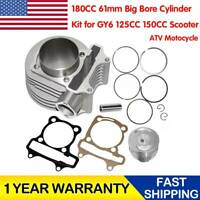 180CC 61mm Big Bore Cylinder Kit Set for GY6 125CC 150CC Scooter ATV Motocycle