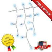 Member's Mark 18' LED Icicle Lights Blue - Free Shipping