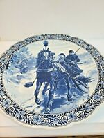 Royal Spiink Delft Charger Horse and Sleigh