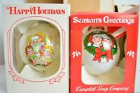 10 Vintage Campbell's Soup Kids Christmas Ornaments 80's Collector Edition