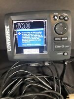 Lowrance Elite-5 DSI Fishfinder With Transducer And Accessories Tested.
