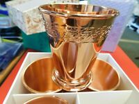 ABSOLUT ELYX COPPER JULEP CUPS GIFT SET 4x NEW IN PACKAGE more listed
