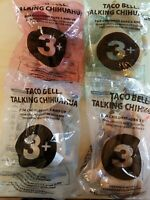 2000s Taco Bell Dog Plush Chihuahua Talking Toys Lot of 4 Sealed
