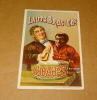 Trade Card Lautz Bro's and Co Soaps African Americana Cleaning Black Boys Skin