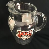 Vintage 1960s Esso Exxon Put a Tiger In Your Tank Gas Advertising Glass Pitcher