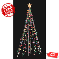 Cone Tree 7 ft. with 105 Multi-Color LED Lights, Christmas Outdoor Decoration NW