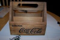 Vintage 1940's Coca Cola 6 Pack Wood Carrier, Caddy Crate