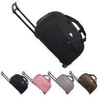 """24"""" Rolling Wheeled Tote Duffel Suitcase Carry On Trolley Bag Travel Luggage USA"""