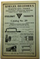 SPIEGEL BROTHERS HARDWARE--TOOL CATALONG Catalog +/-1944 flatiron district