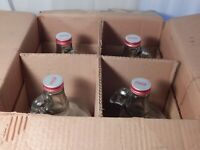 VINTAGE COCA-COLA SODA FOUNTAIN SYRUP BOTTLES(4) IN  ORIGINAL BOX DATED 1969