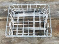Vintage Divided Wire Metal Milk Crate Tote 24 Sections For small Bottles