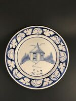 Dedham Pottery Plate Limited Edition Powder House