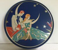 Romantic Art Deco Advertising Tin Queen Anne Candy CO Hammond IN USA 2 LBs