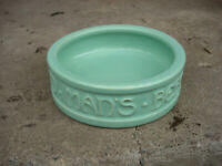 Vintage McCoy Pottery Glazed Green Dog Bowl Dish